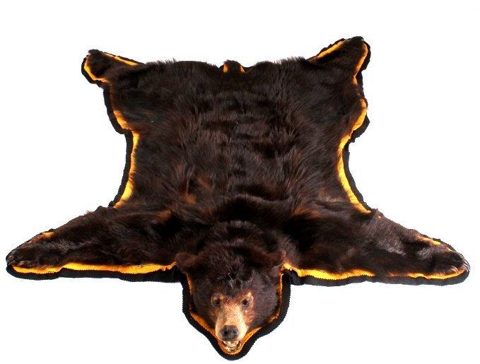 Montana Black Bear Rug