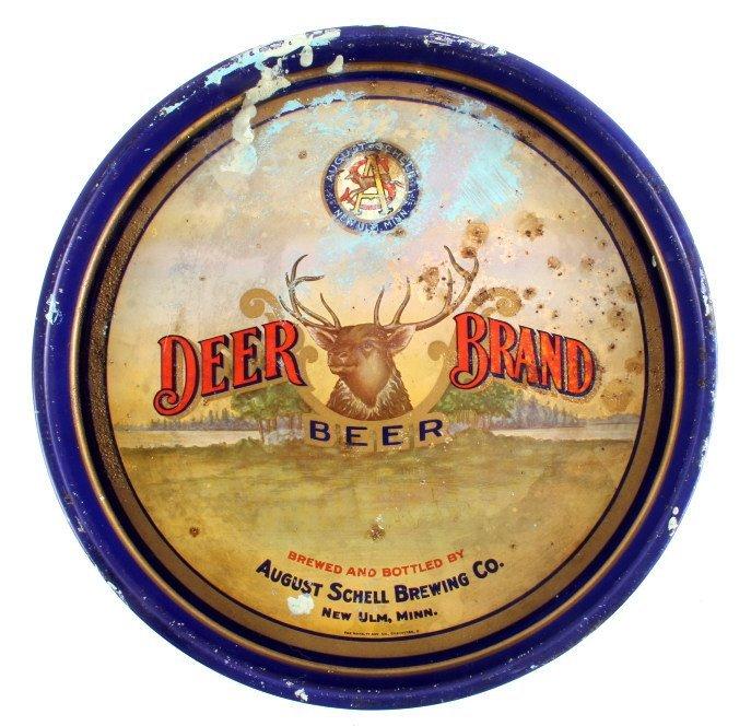 August Schell Deer Brand Beer Advertising Tray