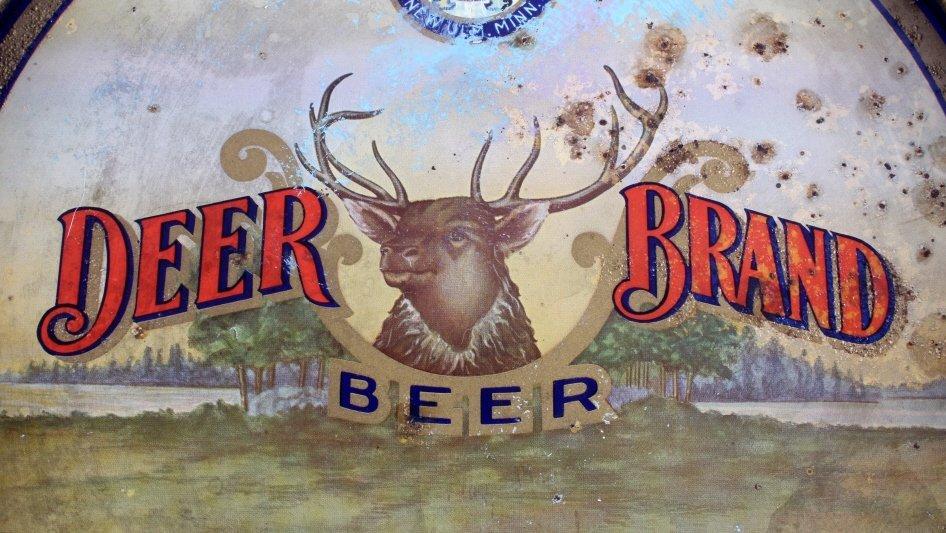 August Schell Deer Brand Beer Advertising Tray - 2