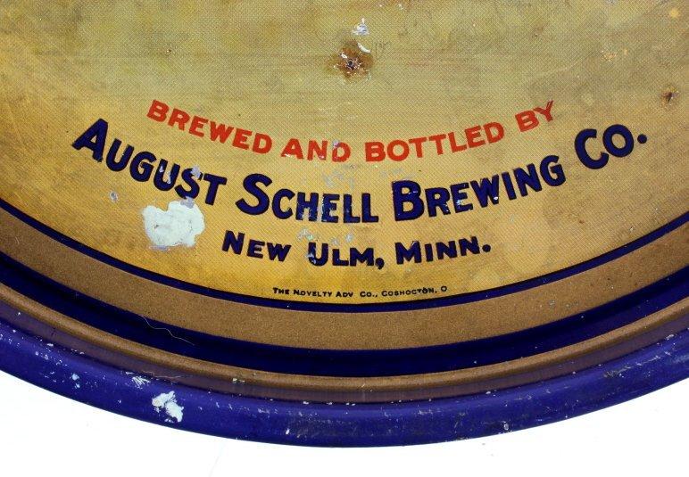 August Schell Deer Brand Beer Advertising Tray - 4