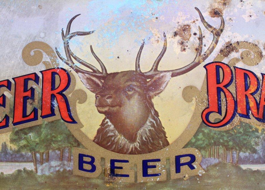 August Schell Deer Brand Beer Advertising Tray - 7