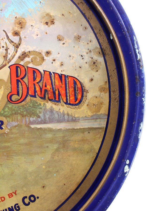 August Schell Deer Brand Beer Advertising Tray - 9
