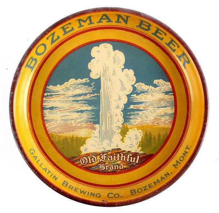 Bozeman Beer Gallatin Brewing Tray Montana Pre-Pro