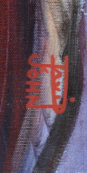 David John Original Oil on Canvas Painting - 9