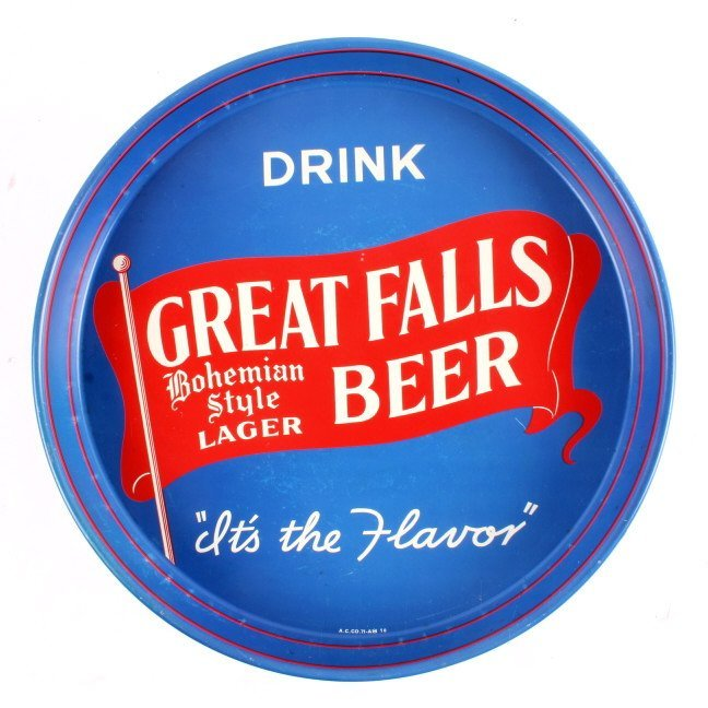 Great Falls Bohemian Style Lager Beer Tray Montana