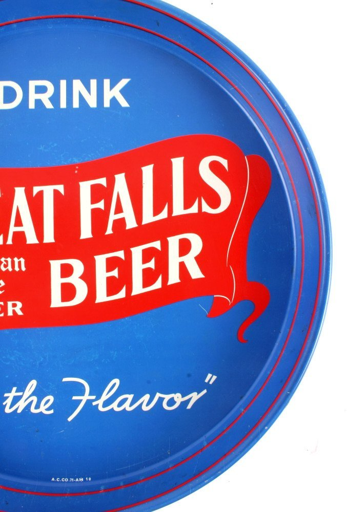 Great Falls Bohemian Style Lager Beer Tray Montana - 8