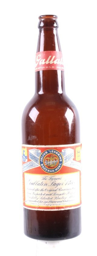 Gallatin Lager Beer Bottle from Bozeman Lehrkind