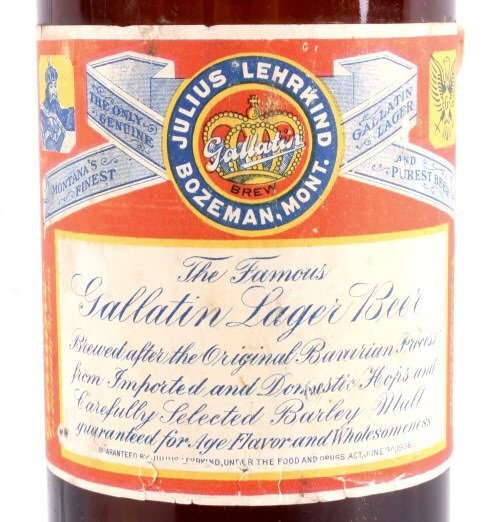 Gallatin Lager Beer Bottle from Bozeman Lehrkind - 2
