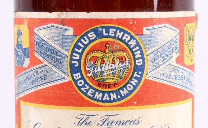 Gallatin Lager Beer Bottle from Bozeman Lehrkind - 3