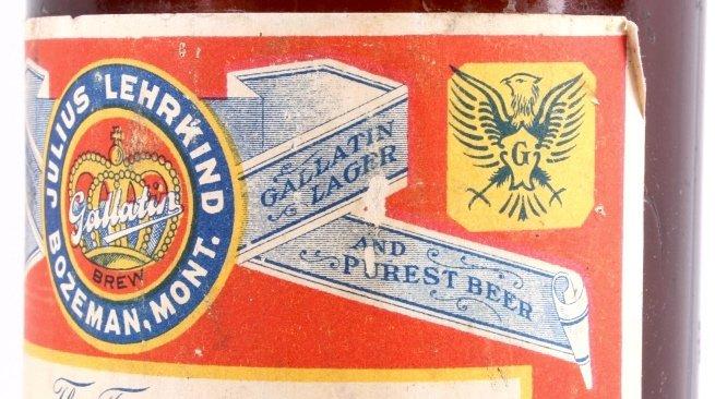Gallatin Lager Beer Bottle from Bozeman Lehrkind - 4
