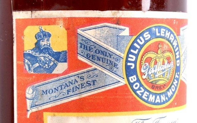 Gallatin Lager Beer Bottle from Bozeman Lehrkind - 5