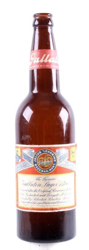 Gallatin Lager Beer Bottle from Bozeman Lehrkind - 8