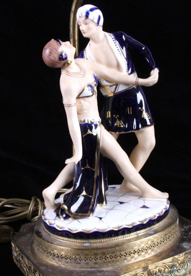 Art Deco Dancing Figures Lamps - 2