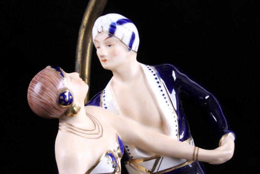 Art Deco Dancing Figures Lamps - 3