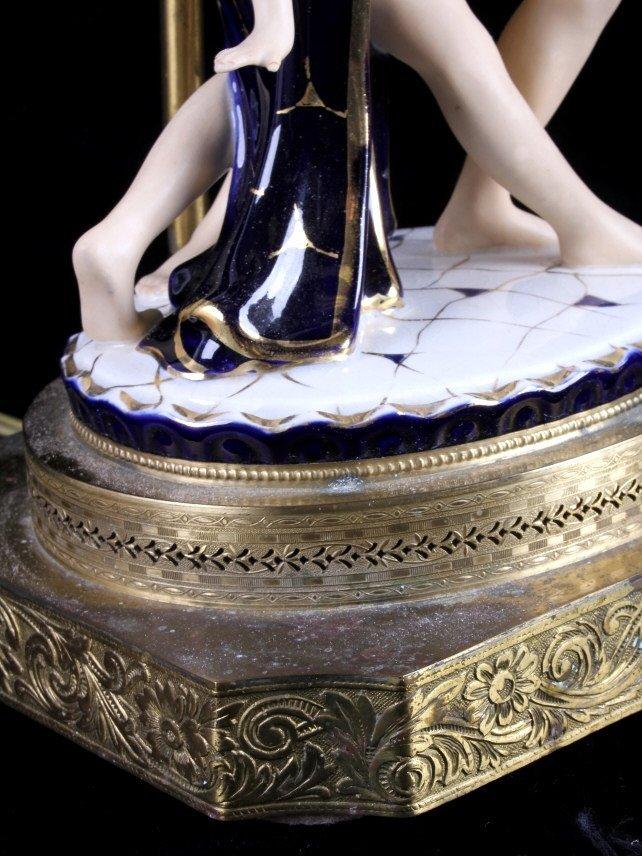 Art Deco Dancing Figures Lamps - 7