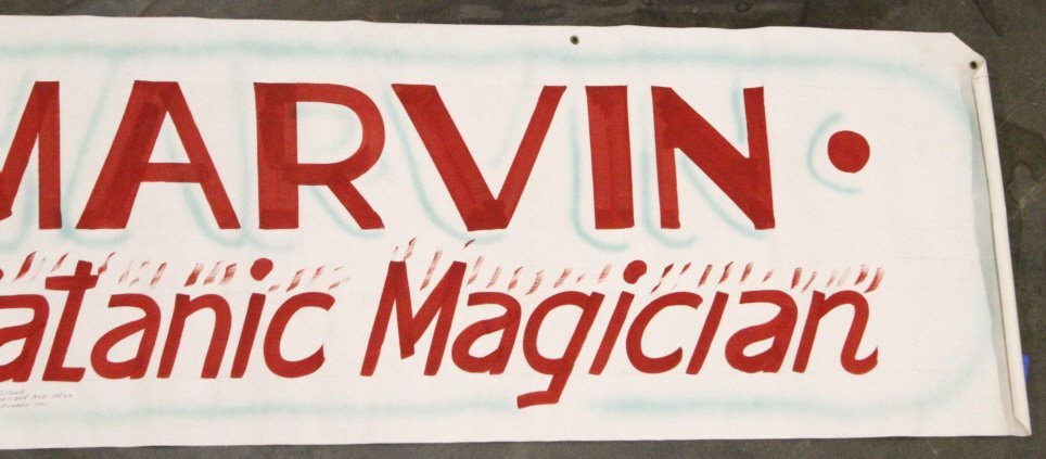 Marvin the Satanic Magician Show Banner Butte MT - 4