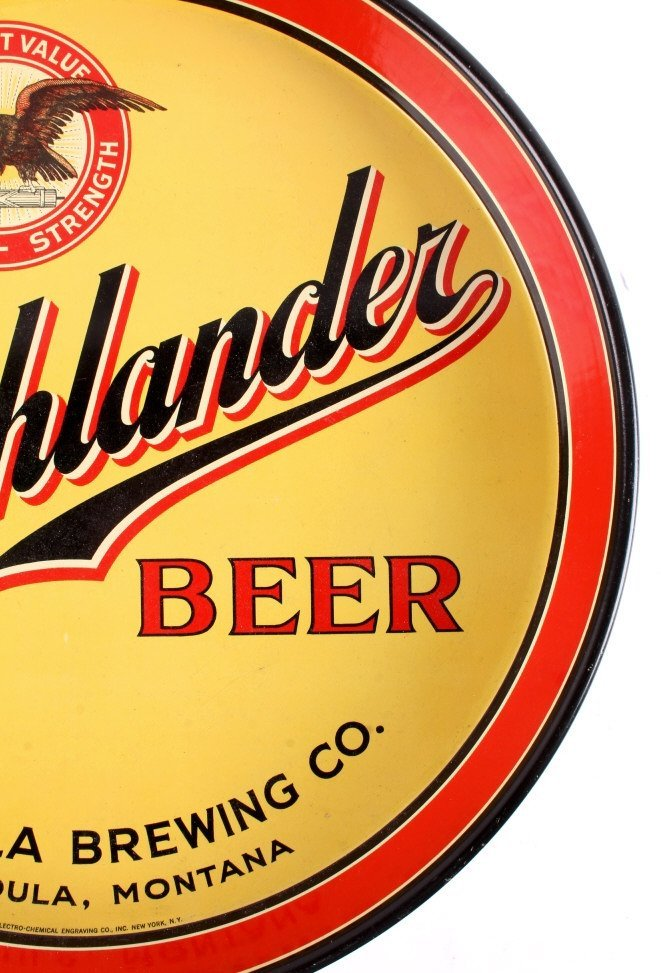 Missoula Brewing Co. Highlander Beer Tray Montana - 8