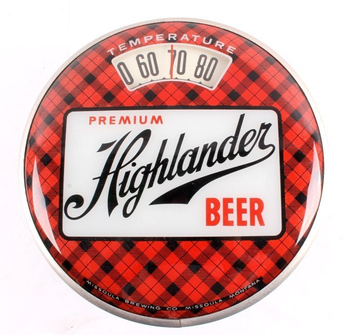 Highlander Beer Advertising Thermometer Montana - 10