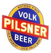 RARE Volk Pilsner Porcelain Sign Great Falls Mont.