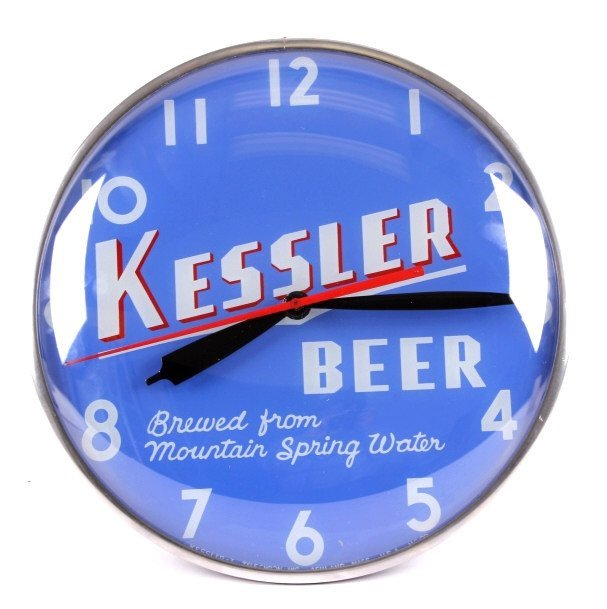 RARE Kessler Beer Clock from Helena Montana