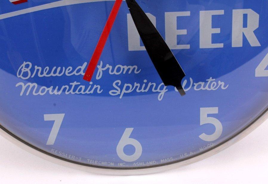 RARE Kessler Beer Clock from Helena Montana - 3