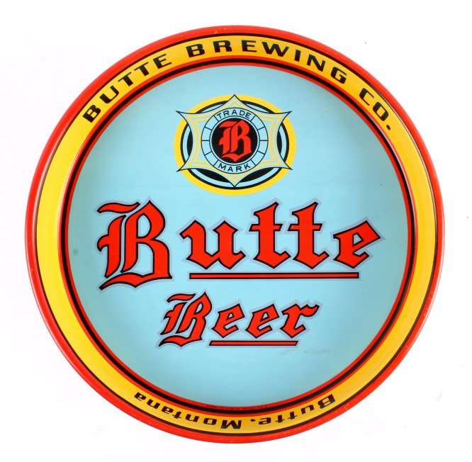 Butte Brewing Co. Beer Tray from Montana