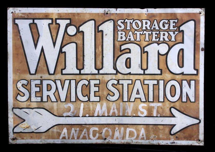 Willard Storage Battery Sign Anaconda Montana