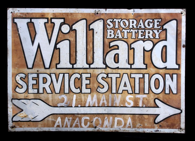 Willard Storage Battery Sign Anaconda Montana - 2