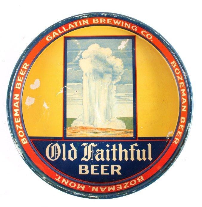 Gallatin Brewing Co. Bozeman Montana Beer Tray