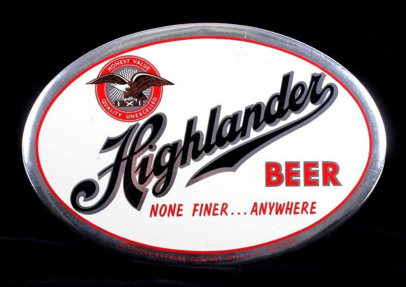 Highlander Beer Advertising Sign Missoula Montana