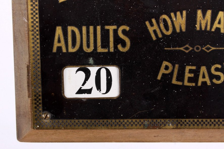 Theatre Admission Sign from Butte Montana - 4