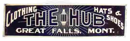 The Hub Original Great Falls Montana Tin Sign