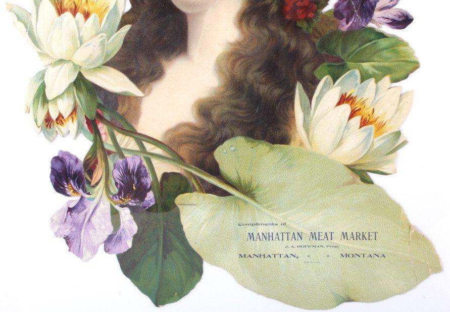 Rare Manhattan Meat Market Die Cut Lithograph - 3