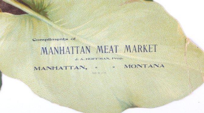 Rare Manhattan Meat Market Die Cut Lithograph - 4