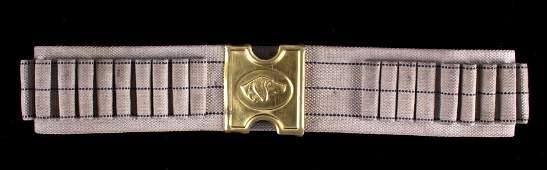 Indian Wars Cartridge Belt with Dog Head Buckle