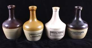 Antique Stoneware Advertising Jug Collection