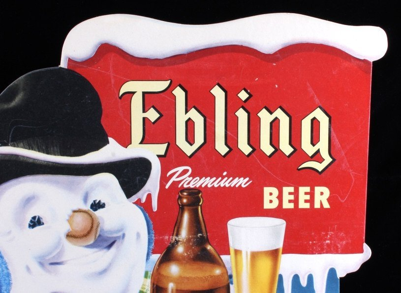 Ebling Frosty Snowman Die Cut Advertising Sign - 2