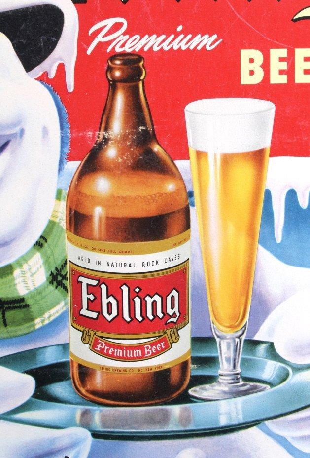 Ebling Frosty Snowman Die Cut Advertising Sign - 4