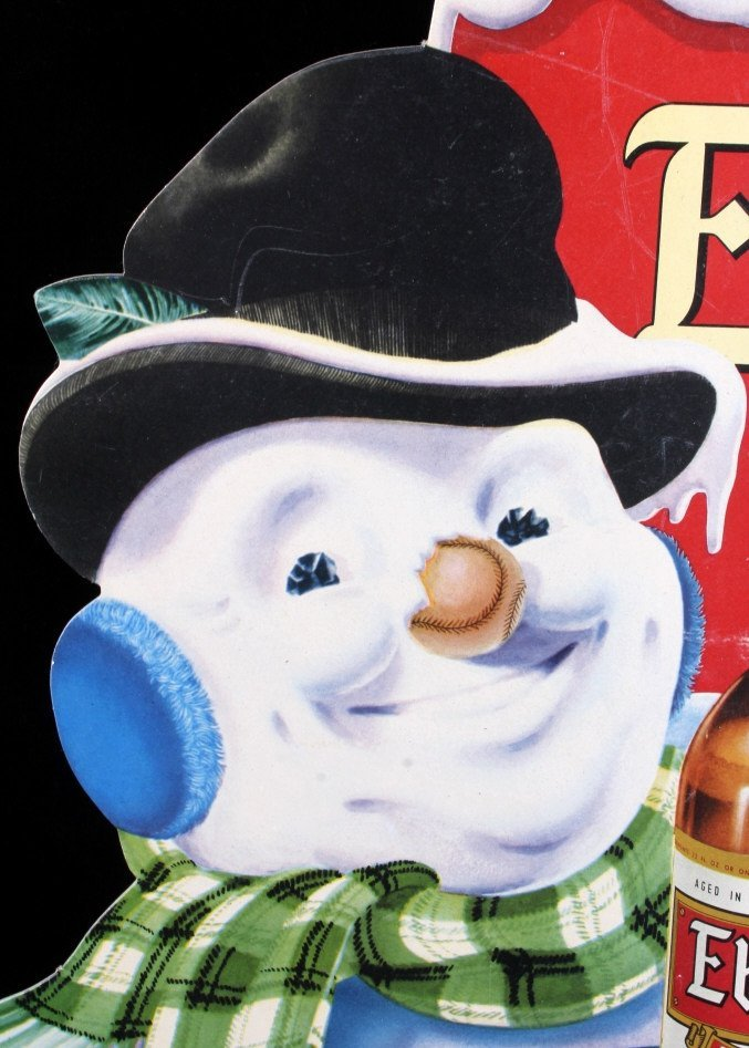 Ebling Frosty Snowman Die Cut Advertising Sign - 8