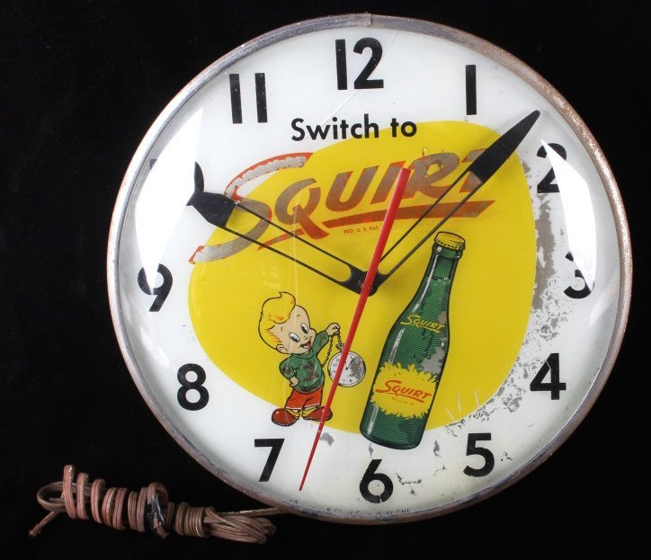 Rare Vintage Squirt Wall Clock C.1960's