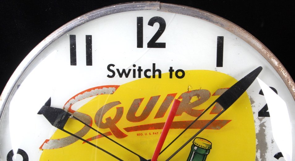 Rare Vintage Squirt Wall Clock C.1960's - 2