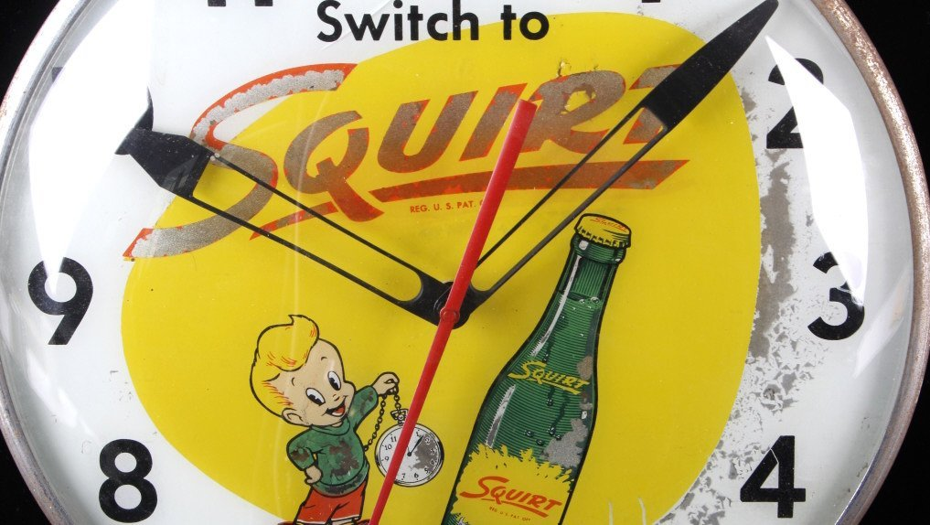 Rare Vintage Squirt Wall Clock C.1960's - 3