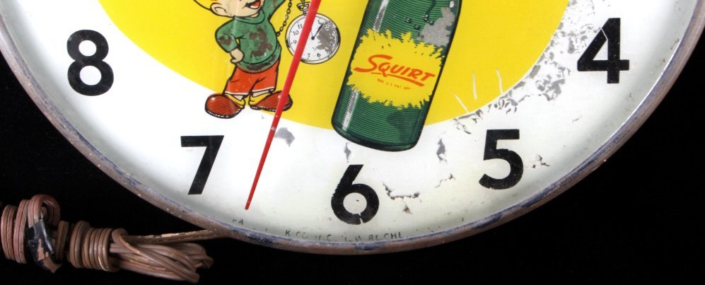 Rare Vintage Squirt Wall Clock C.1960's - 4