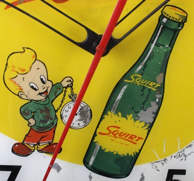 Rare Vintage Squirt Wall Clock C.1960's - 5