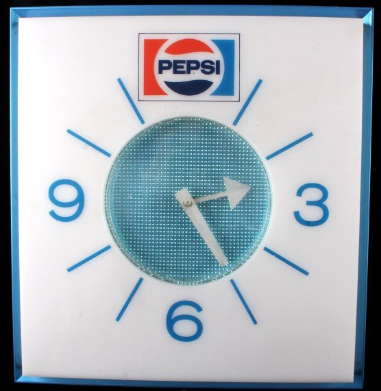 New Old Stock Lighted Pepsi-Cola Wall Clock