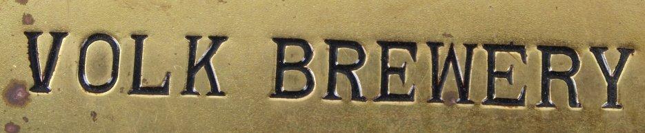 Volk Brewery Brass Sign Great Falls, MT C.1930's - 2