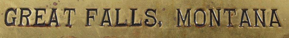 Volk Brewery Brass Sign Great Falls, MT C.1930's - 3