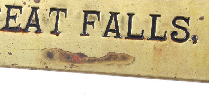 Volk Brewery Brass Sign Great Falls, MT C.1930's - 5