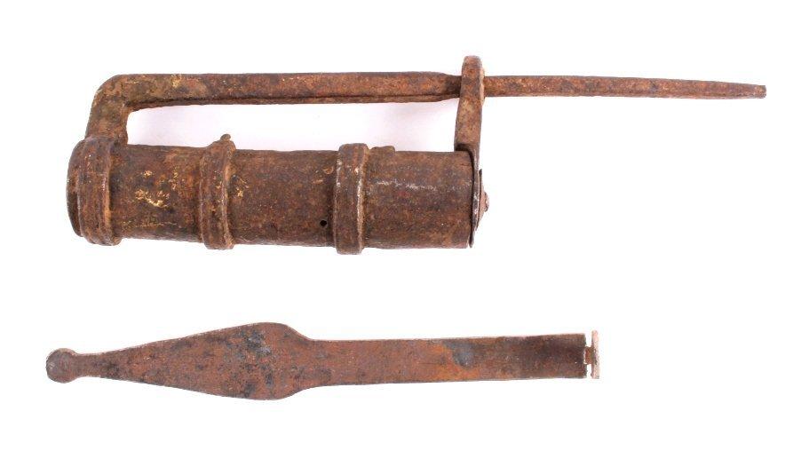 Blacksmith Forged Iron Lock and Key