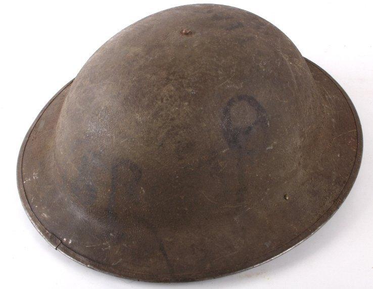 U.S Military WWI Model 1917 Helmet Trench Art